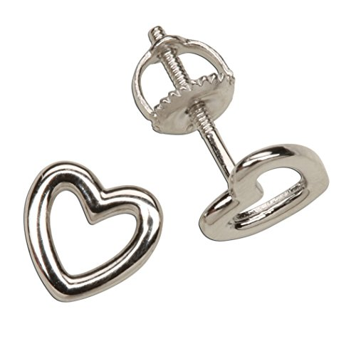 Childrens Sterling Silver Heart Earrings product image
