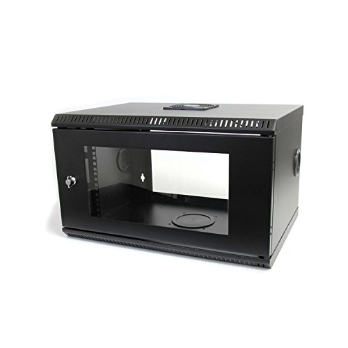 StarTech.com 6U 19-Inch Wall Mount Server Rack Cabinet with Acrylic Door RK619WALL (Black)