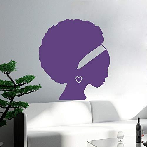 mmzki Chica Africana Mujer Negra Silueta Tatuajes de Pared Salón ...