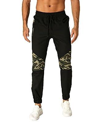 MODCHOK Men's Jogger Pants Sports Trousers Camo Twill Chino Slim Fit Sweatpants