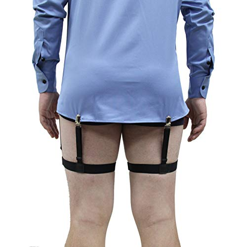 Reasonable High Quality Mens Shirt Stays Double Suspender Brand Braces For Shirts Holder Gentleman Leg Elastic Women Garter Adjustable Reliable Performance Men's Suspenders