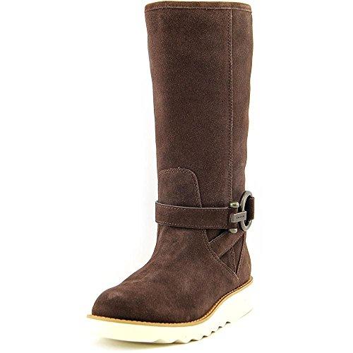 Coach Women's Virtue Round Toe Winter Boot, Chocolate, - Women Coach Boots