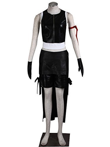 - DAZCOS US Size Anime Tifa Lockhart Cosplay Costume (Women S) Black