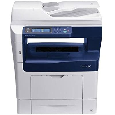 Xerox WorkCentre 3615DN Monochrome Laser Multifunction Printer/Copier/Scanner/Fax Machine, White/Blue