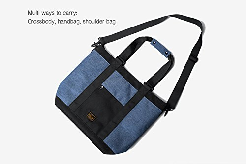 For Handbags Travel Men Women Blue Bags Tote And Crossbody Bag With Bags Bags Zippers Blue Urban Shoulder EfBPXxqxw