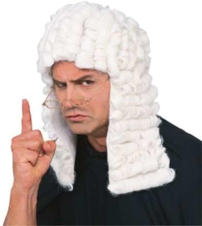 Rubie's Costume Retro Judge Wig