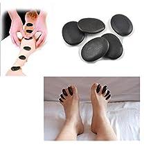 Lifetop 7pcs /lot Massage Hot Stones Massage Lava Natural Stone Set Hot Spa Rock Basalt Stone