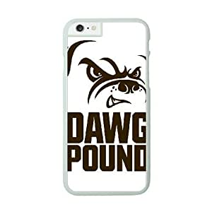 iPhone 6 White Cell Phone Case Cleveland Browns NFL Design 3D Phone Case Cover NLYSJHA1696
