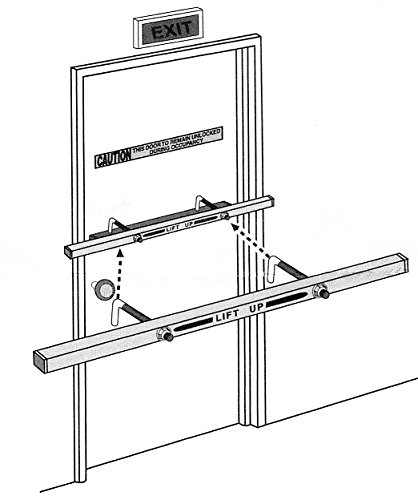 Exit Security SB-010036 Single Outswing Door Bar by Exit Security Inc (Image #2)