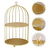 DOITOOL Cosmetics Iron Storage Rack Antique Bird