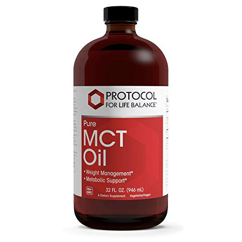 Protocol For Life Balance - Pure MCT Oil - 100% Pure to Support Weight Management and Metabolic Activity, Promotes Enhanced Energy Production - 32 fl. oz. (946 mL)