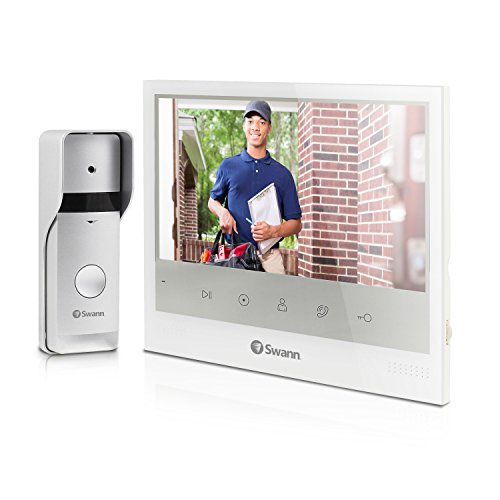"""S Expandable Intercom and Video Door Phone with 7"""" LCD Monitor, White ()"""