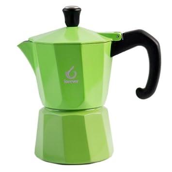 Forever kg120137 Super Farbe 3 Cup Espresso Topf, grün: Amazon.de ...