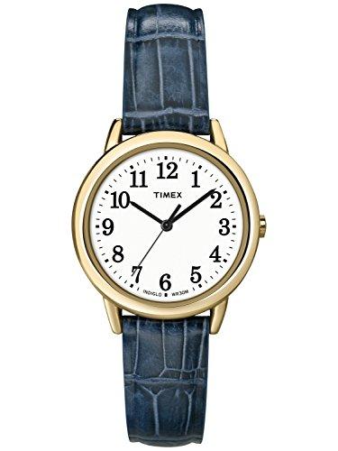- Timex Women's South Street Watch, Blue Croco Pattern Leather Strap Blue