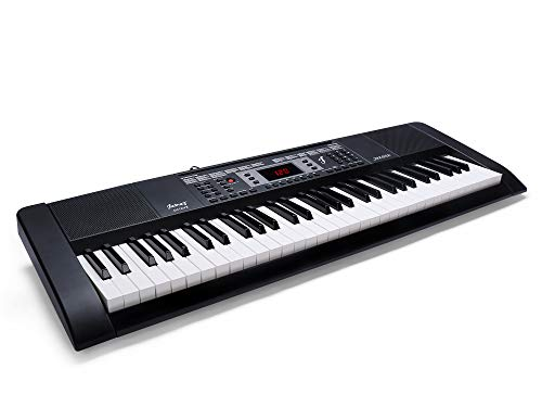 JUAREZ Octavé JRK662 61-Key Electronic Keyboard Piano with LED Display   Adapter   Key Note Stickers   Mic  Music Sheet Stand   300 Rhythms   300 Timbres   50 Demos   Professional Teaching Function