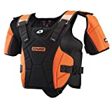 EVS Sports SV1R Race Ready Protective Snow Vest (Black/Orange, X-Large/XX-Large)