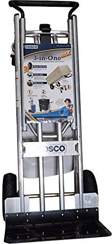 Cosco 3-in-1 Aluminum Hand Truck/Assisted Hand Truck/Cart w/ flat free wheels - Loop Handle by Cosco