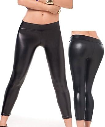 15fa6607a280ea Amazon.com: Sexy Black Metallic Leggings - Extra Large: Leggings .