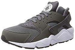 Nike Men's Air Huarache Dark Greydark Grey White Running Shoe 10 Men Us