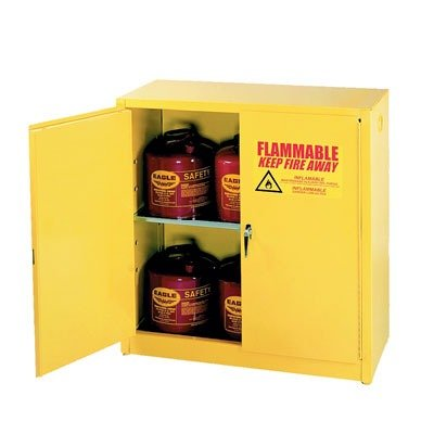 Eagle 1932 Flammable Storage Cabinet, Manual-Latching Door, 30 Gallon