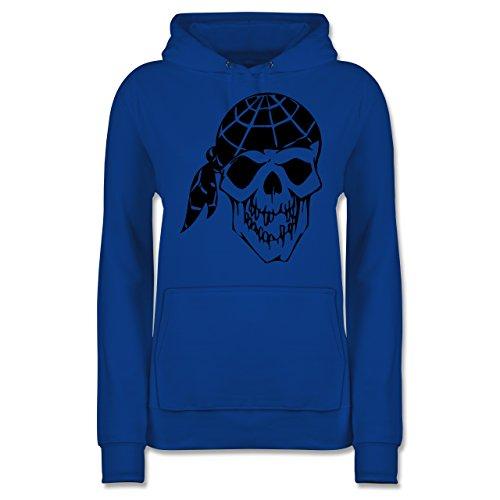 Shirtracer Piraten & Totenkopf - Totenkopf - Damen Hoodie Royalblau 5NqYNN0WB