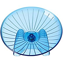 SatisPet Ultimate Hamster Flying Saucer Exercise Wheel, Blue - Durable ABS Plastic Running & Spinning Wheel For Chinchillas, Squirrels & Mice (Large)