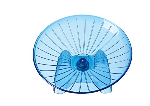 SatisPet Ultimate Hamster Flying Saucer Exercise Wheel, Blue - Durable ABS Plastic Running & Spinning Wheel for Chinchillas, Squirrels & Mice (Large) ()