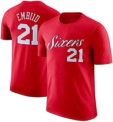 Gflyme 76ers Ben Simmons 25 Enbid 21 Algodón Baloncesto Manga ...