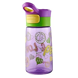Contigo Autoseal Kids Gracie Water Bottle, 14-Ounce, Amethyst Graphic