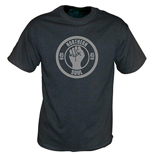 TshirtGrill Nordweinlese-Wäsche-T-Shirt der seelen-45rpm, Farbe- Schwarzes