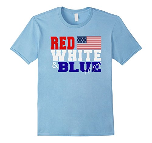 Patriotic 4th of July T-shirt Red White and Blue American Flag