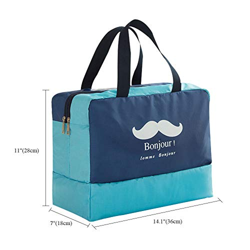 Bag with Travelling Wet Swimsuit Agyvvt for Bathing Large Surfing Shower Women Beach Dry Waterproof Sports Bags Tote Men Travel Beard Shoes Compartment Swimming Depart Gym Navy w1qRInYq