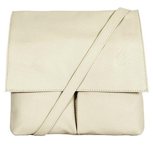 Cream Italian Cross Vera Amethyst Retail Leather Bag Body Pelle Handbag Ladies Shoulder Medium Messenger qfOXwxYOyU