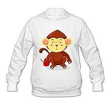 Monkey Cartoon Lovely Cute Women's Hooded Sweatshirt
