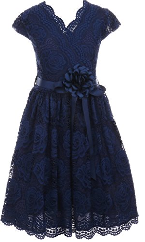 Lace Border Print Dress - 4