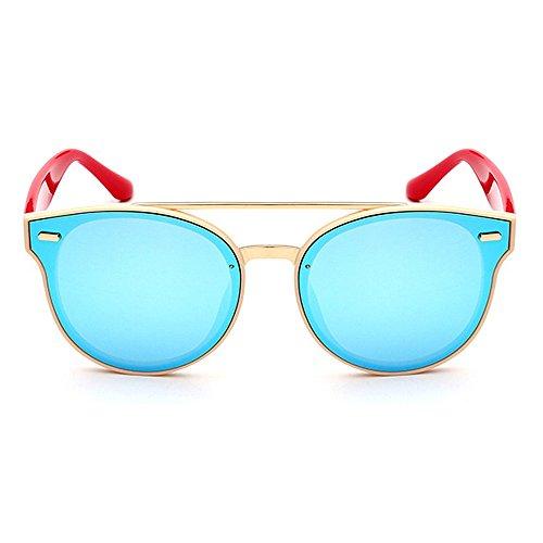 Protección Peggy Color de Mujeres Coloreada para Vendimia Sol Flor Aire Gafas Gu Lente la viaja al C6 Marco Redondo Libre UV C5 de Que la de Conducción de rtwZqt4U