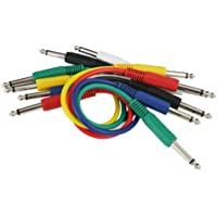 Peavey 1 Foot Colored 1/4 Inch Patch Cables, 6 Pack