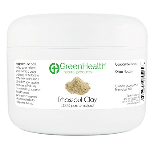 (Rhassoul Clay Powder - 100% Pure & Natural by GreenHealth)