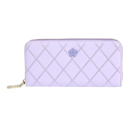 ed Detachabled Wristlet Clutch Zipper Wallet,Purple (Leather Multi Currency Passport Case)