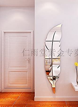 Jedfild Wandaufkleber Die 3 Dimensionale Wand Feder Spiegel