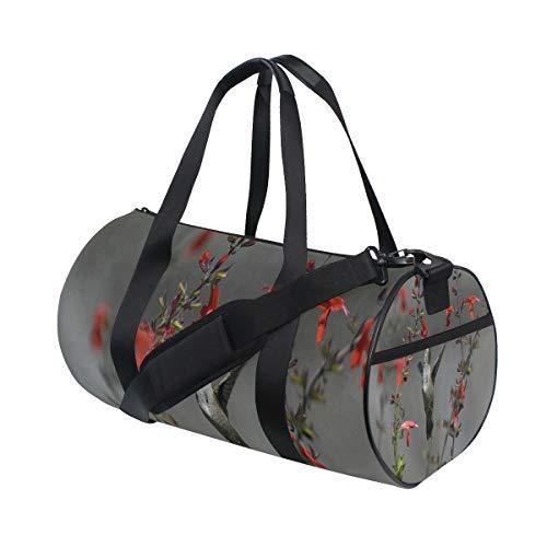 Gym Bag Bird Flower Duffel Bag for Men and Women Travel Sport