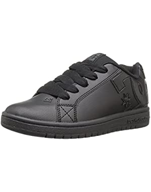 Kids' Court Graffik Sneaker, Black/Black/Black, 2 M US Little Kid