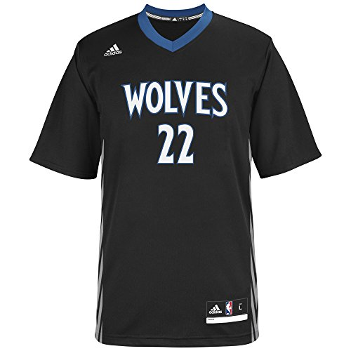 adidas NBA Minnesota Timberwolves Andrew Wiggins #22 Men's Replica Jersey, Large, Black