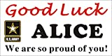 [Vinyl] Alice Graphics 2ftX4ft Custom Personalized US Army Good Luck Banner Sign