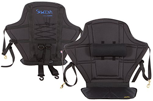 (Skwoosh High Back Kayak Seat with Adjustable Lumbar Support and Waterproof Nylon seat | Made in USA)