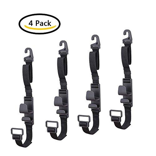 4 pack car seat headrest hooks by villexun strong durable backseat headrest hanger storage for. Black Bedroom Furniture Sets. Home Design Ideas