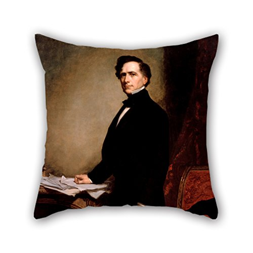 Price comparison product image Artistdecor Throw Pillow Covers 16 X 16 Inches / 40 By 40 Cm(2 Sides) Nice Choice For Outdoor, wife, family, adults, lounge, dining Room Oil Painting George P.A. Healy - Franklin Pierce