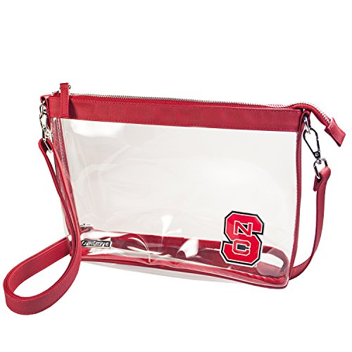 North Carolina Nfl - Capri Designs Clear Large Crossbody NFL Stadium Approved - North Carolina State Wolfpack