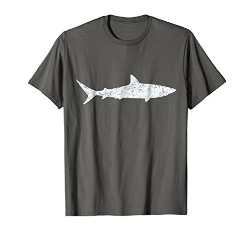 Shark Retro Vintage T-Shirt 70s Distressed Throwback Tee
