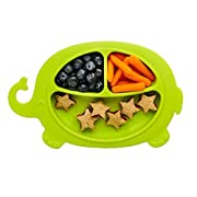 Suction Plate for Toddlers Silicone Green Elephant by OYYO